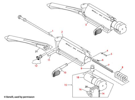 Benelli U S A  M2 Bolt Assembly Schematic - Brownells Uk.
